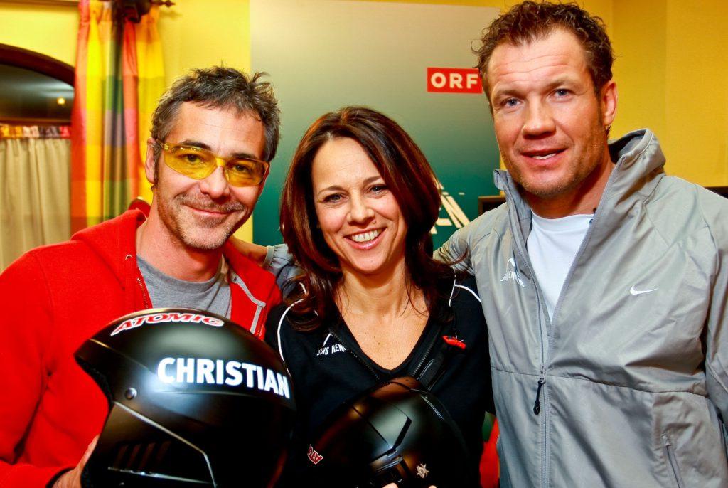 von re. Christian Clerici, Vera Russwurm und Armin Assinger